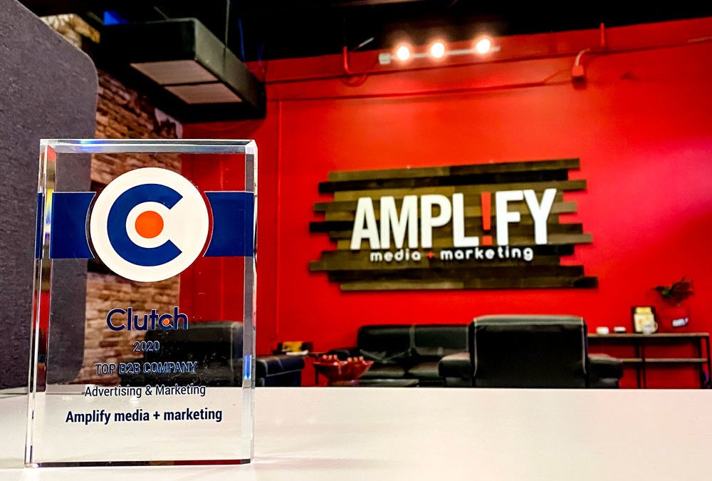 Amplify media + marketing Proud to be Named a Top Digital Marketing Firm in Texas by Clutch!